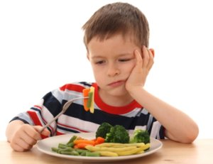 Vegetali e frutta i meno amati dai bimbi