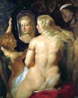 Forma  - Venere allo specchio di Pietro Paolo Rubens.